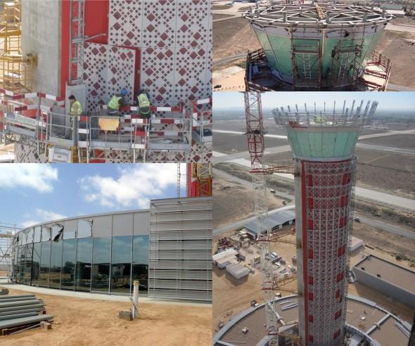 البرج الجديد لمطار طرابلس العالمي قبل وبعد 2011